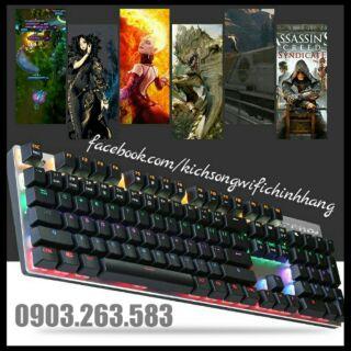 Bàn Phím Cơ Zero E-Sports Gaming Gear Led Rainbow Fullsize 104 phím ( Đen ) thumbnail