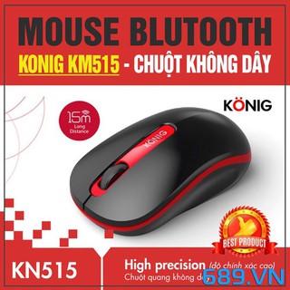 Chuột không dây Konig KN515 (Đen đỏ, đen xanh, đen xám) Chính hãng - Bảo hành 1 năm 1 đổi 1 thumbnail