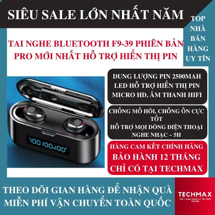 Tai Nghe Bluetooth Amoi F9-39 Phiên Bản Pro Nâng Cấp, Led Hiện Pin, Cảm Ứng Chạm, Pin Trâu