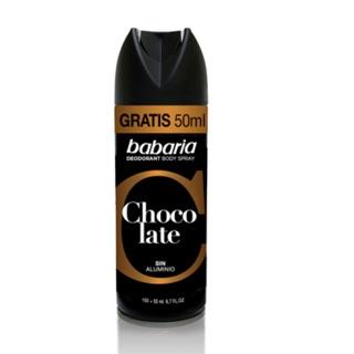 Xịt khử mùi cơ thể tinh chất Chocolate Babaria