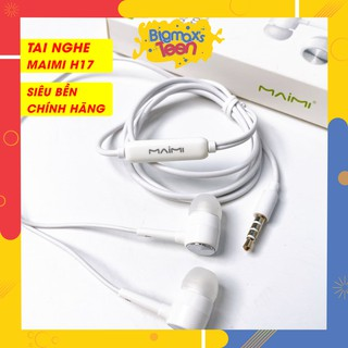 Tai nghe nhét tai có dây Maimi H17 phong cách thể thao âm siêu trầm, tương thích mọi thiết bị jack 3.5mn