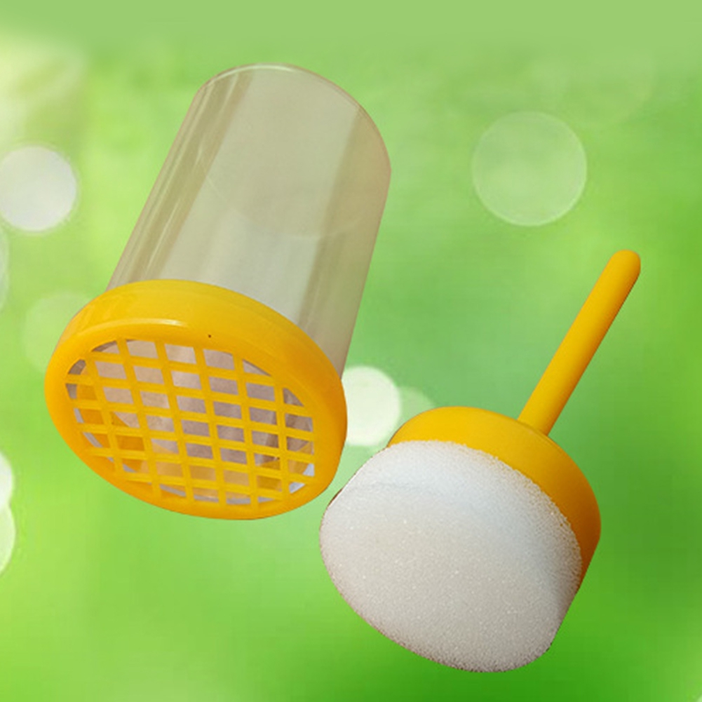 Portable Marking Cage Equipment Yellow Beekeeping Farm With Plunger Plastic Queen Bee Marker