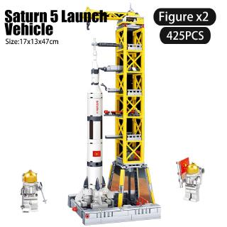 Aerospace Technic Space Shuttle Satellite Launcher Space Ship Station Spacecraft Building Block Toys for Children 83012