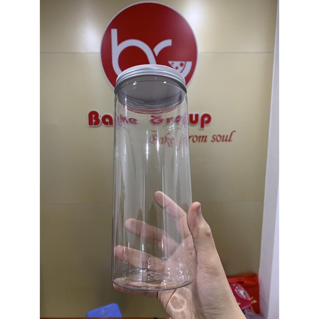 Hộp Nhựa Tròn Nắp Thiếc ( 4 Size ) ( Không Kèm Tem )