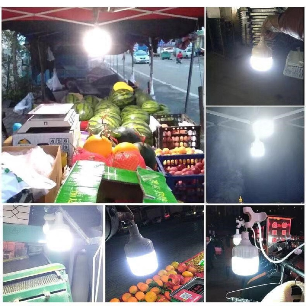 Đèn Led sạc tích điện dạng Bóng Bulb Pin 18650 Chọn Công suất 40/60/100W mã  37001 - Đèn pin