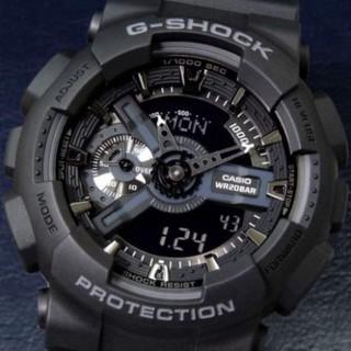 (Thẻ bảo hành 12 tháng) [HOT 2021]Đồng hồ thể thao nam G-Shock - GA110 55mm điện tử chống nước đa năng (Màu đen) - Gsock