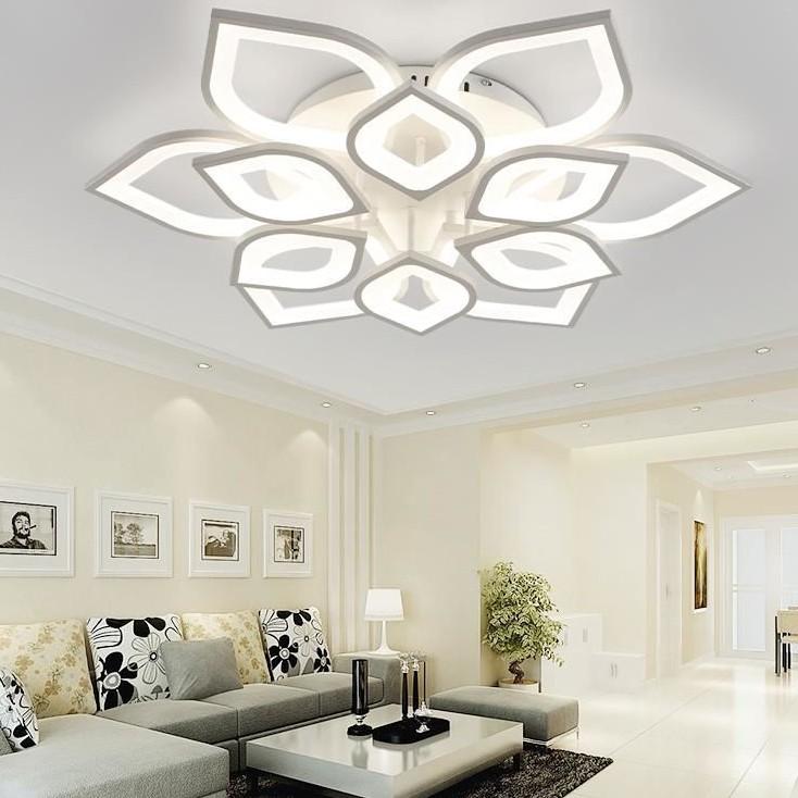 Đèn Ốp Trần, Đèn LED Ốp Trần 12 Cánh Hình cánh sen, đèn trần trang trí phòng khách, phòng ngủ, sảnh BẢO HÀNH 12 THÁNG