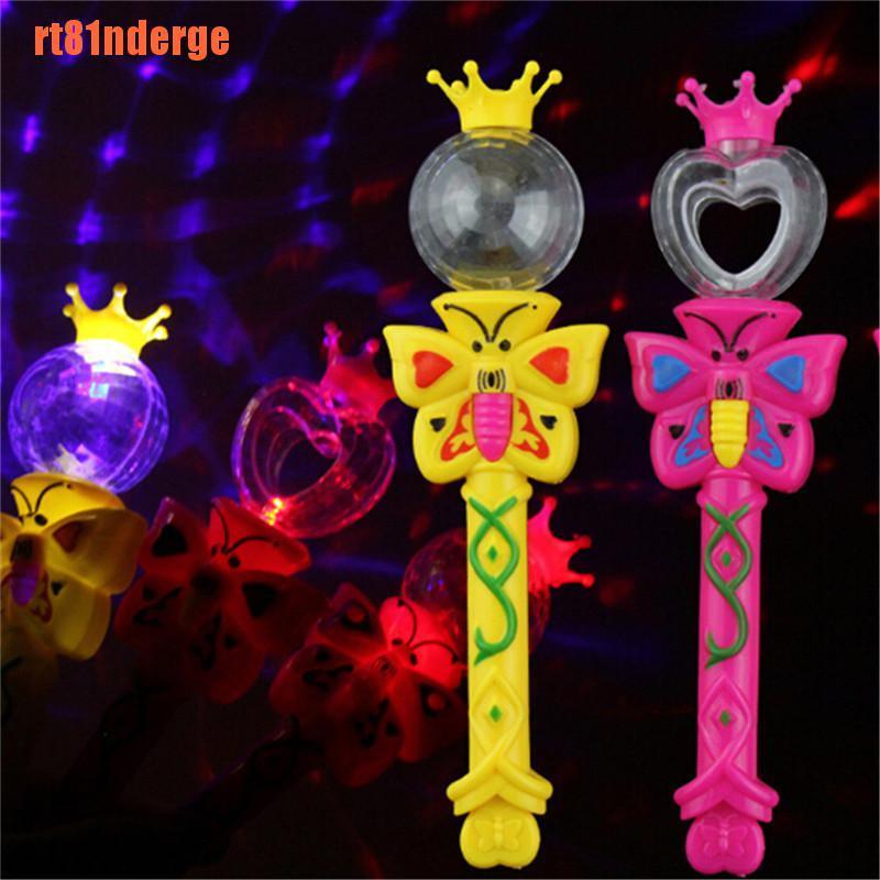 【RT】Magic Lighting Stick Toys Flashing Glowing Light Up Wands Luminous Gift To