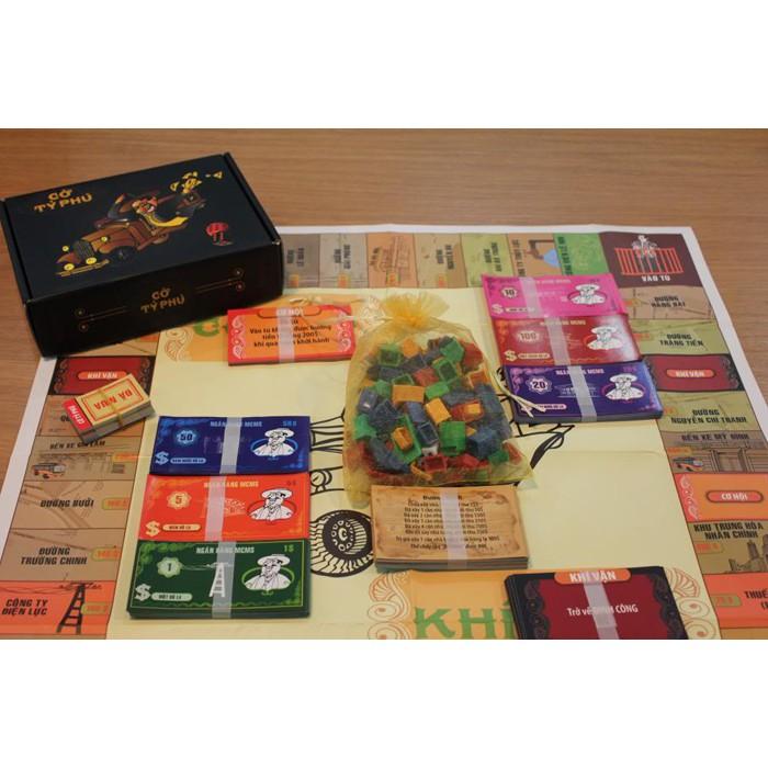 [Mã TOYSALE99 hoàn 15% xu đơn 150K] Bộ cờ tỷ phú Việt Nam Boardgame bản dày chính hãng