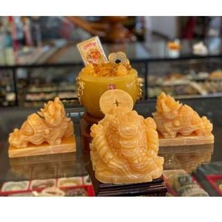Thiềm Thừ Đá Ngọc Hoàng Long (Cóc vàng 3 chân ngậm vàng) kích thước 10cm, 12cm,15cm, 20cm