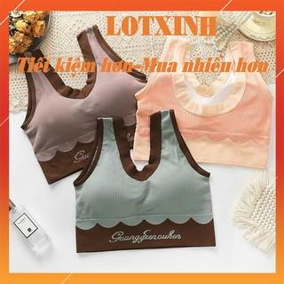 Áo bra tập gym dáng croptop nâng ngực sexy, Áo lót nữ thể thao LOTXINH thumbnail