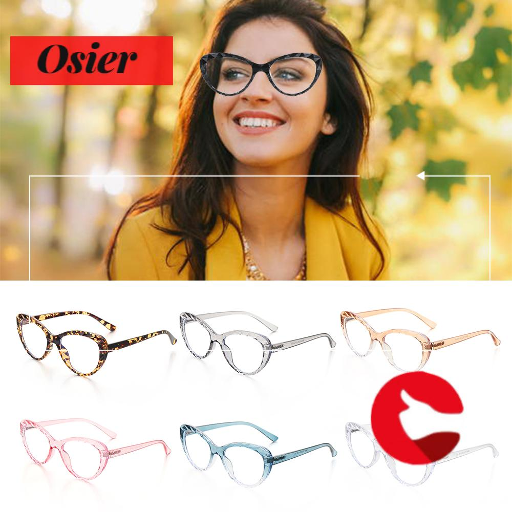 👒OSIER🍂 Anti Blue Rays Vision Care Women Men Eye wear Computer Glasses Flexible Portable Ultra Light Resin Fashion High Quality Eyeglasses/Multicolor