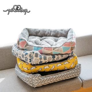 Đệm ấm cho chó mèo lót lông có thể dùng với thảm mùa hè. Ổ cho chó mèo. Nệm chữ nhật cho thú cưng chống xê dịch thumbnail