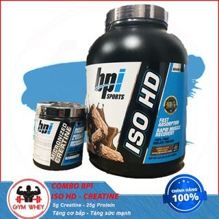 [COMBO] Tăng Cơ Giảm Mỡ Tăng Sức Mạnh Cực HOT Của BPI ISO HD (5lbs) Và Creatine Micronized (300g) – Từ Mỹ
