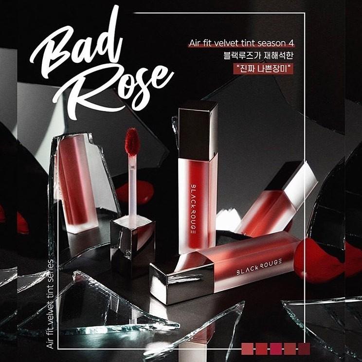Son kem Black rouge Air Fit Velvet BAD ROSE ver 4