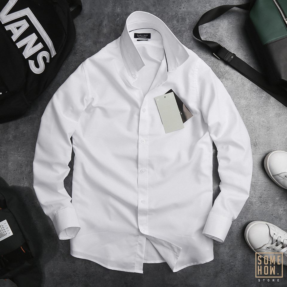 ⏩⏩Áo Sơ mi nam trắng tay dài cao cấp chất liệu cotton chống nhăn [VNXK] [XỊN XÒ]