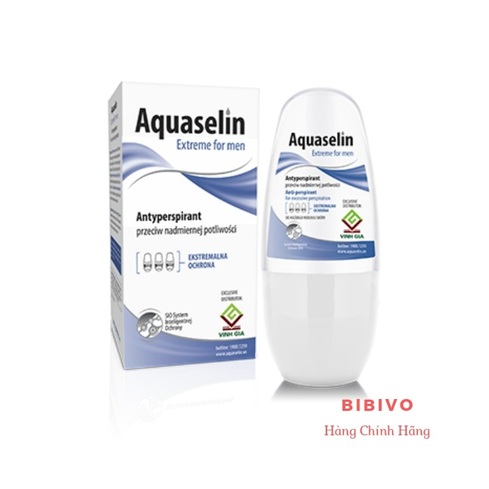 Aquaselin - Lăn nách ngăn tiết mồ hôi và khử mùi dành cho nam - Hàng Chính Hãng
