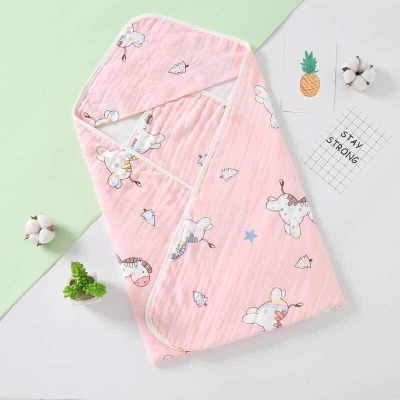 Chăn ủ sơ sinh bằng vải xô mềm mịn giadunghuylinh