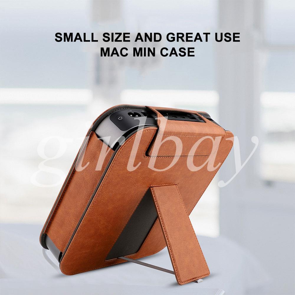 King Mac Mini Protector Sleeve Desktop Full Skin Bag Antifingerprint Quality Durable Leather