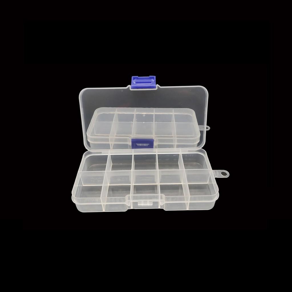 Hộp đựng trang sức dụng cụ nhựa 10 ngăn nhiều hộc