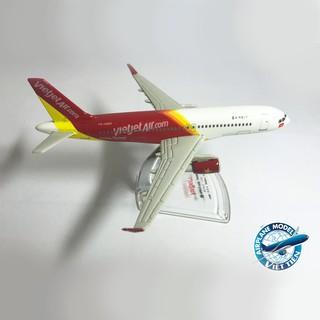 Mô hình máy bay Vietjet Air Airbus A320 Sharklets dài 25cm