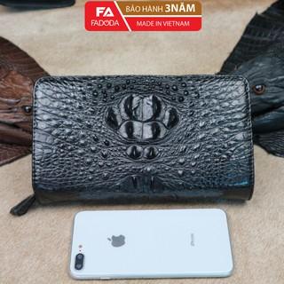 Ví nam clutch cầm tay da cá sấu Fadoda màu đen sang trọng - FCW43-01G thumbnail