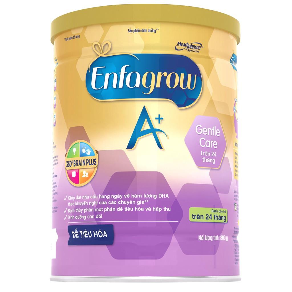 [Mã MKBC217 giảm 80K đơn 1tr] Sữa bột ENFAGROW A+ GENTLE CARE 4 800g