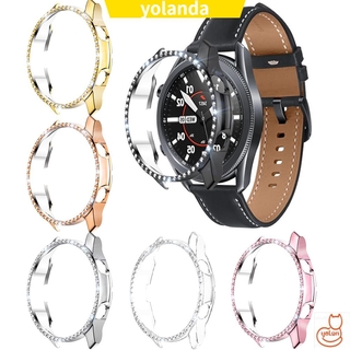 ☆YOLA☆ Luxury Case Cover 45mm 41mm PC Shiny Diamond New Shell Bumber Smart Watch Screen Protector/Multicolor