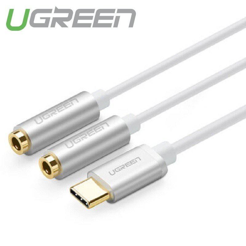 [FREESHIP 99K]_Cáp chuyển USB Type C ra Jack 3.5mm kép Ugreen