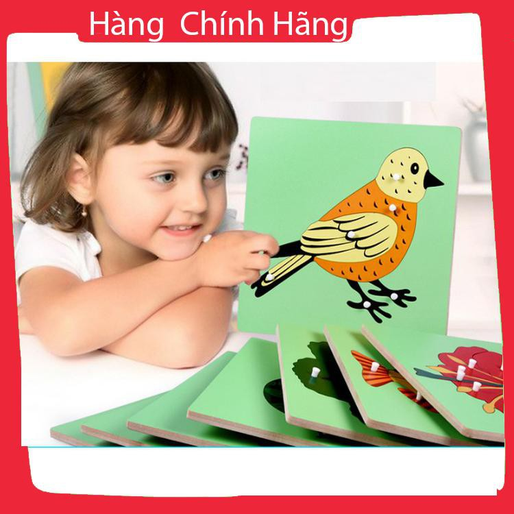 [Hỗ trợ giá] Đồ chơi tranh ghép giáo cụ sinh vật Montessori chọn chủ đề cho bé_Hàng tốt