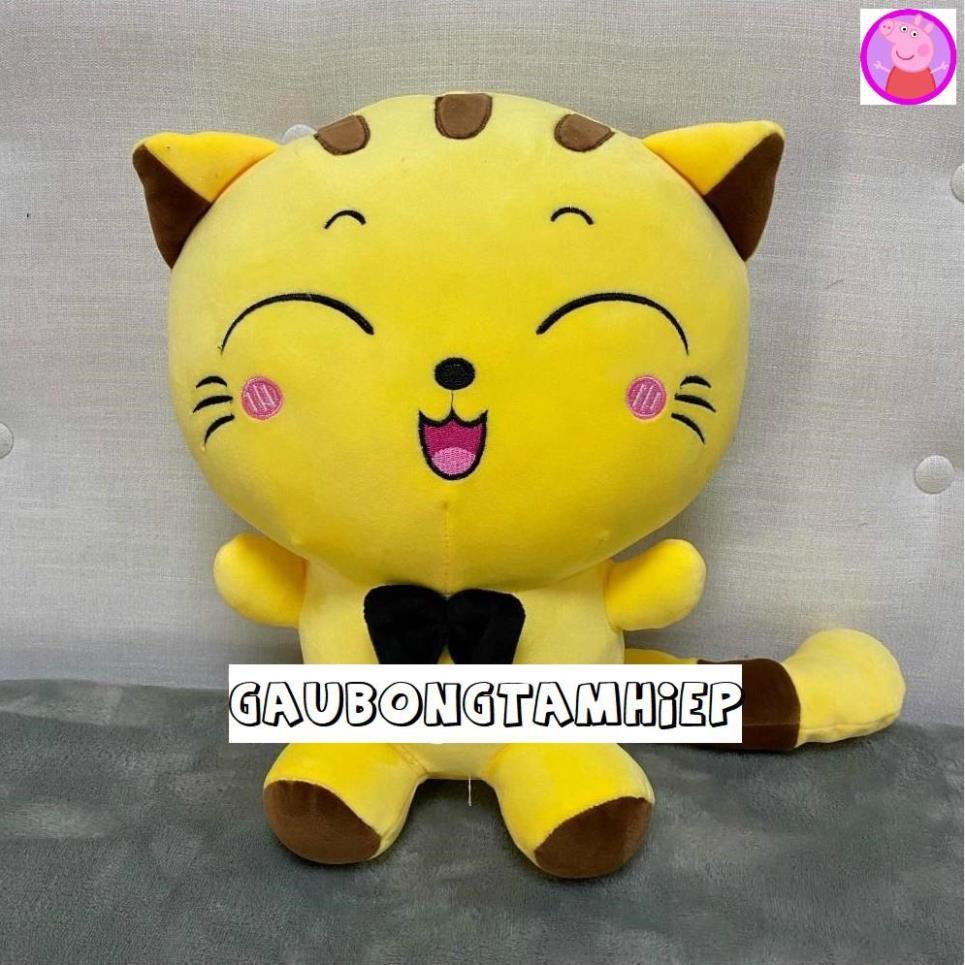 Mèo Bông Mishu Gấu bông Thú bông ngộ nghĩnh đáng yêu Chất liệu vải co giãn 4 chiều mềm min...