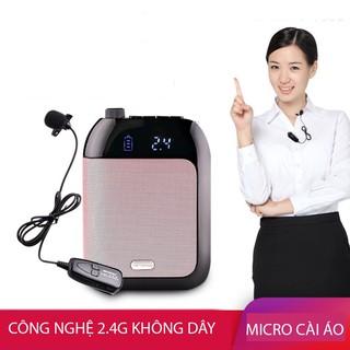 Máy trợ giảng aproro T9 2.4G phiên bẳn micro cài ve áo