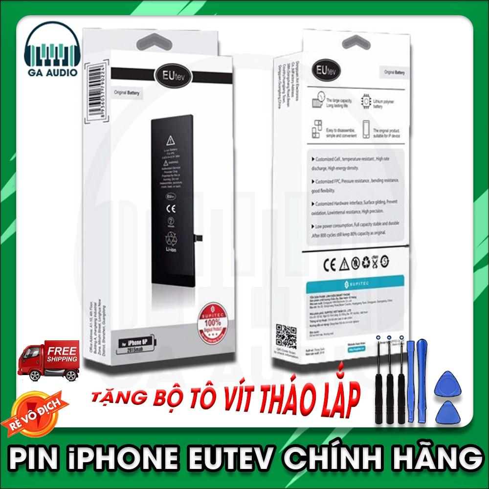 Pin iPhone EUTev chính hãng (xuất khẩu EU),dành cho iphone4,4s,5,5s,6,6s,6plus,6splus,7,7plus,8,8plus,iphone x