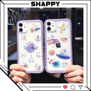 Ốp IPhone Silicon Trong Hoạ Tiết Du Hành Không Gian [Shappy Shop] thumbnail