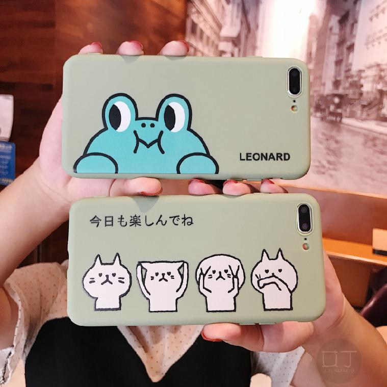 COD IPHONE Cartoon Frog & Cat X XS XR XS Max 8 7 6 6SP Protected Phone 527