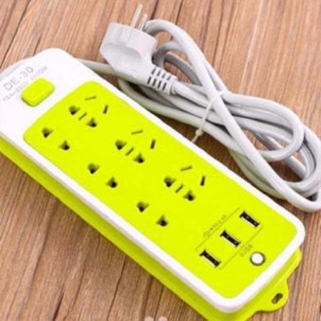 [Hàng loại 1] Ổ Cắm điện đa năng 6 cổng xạc, 3 cổng usb