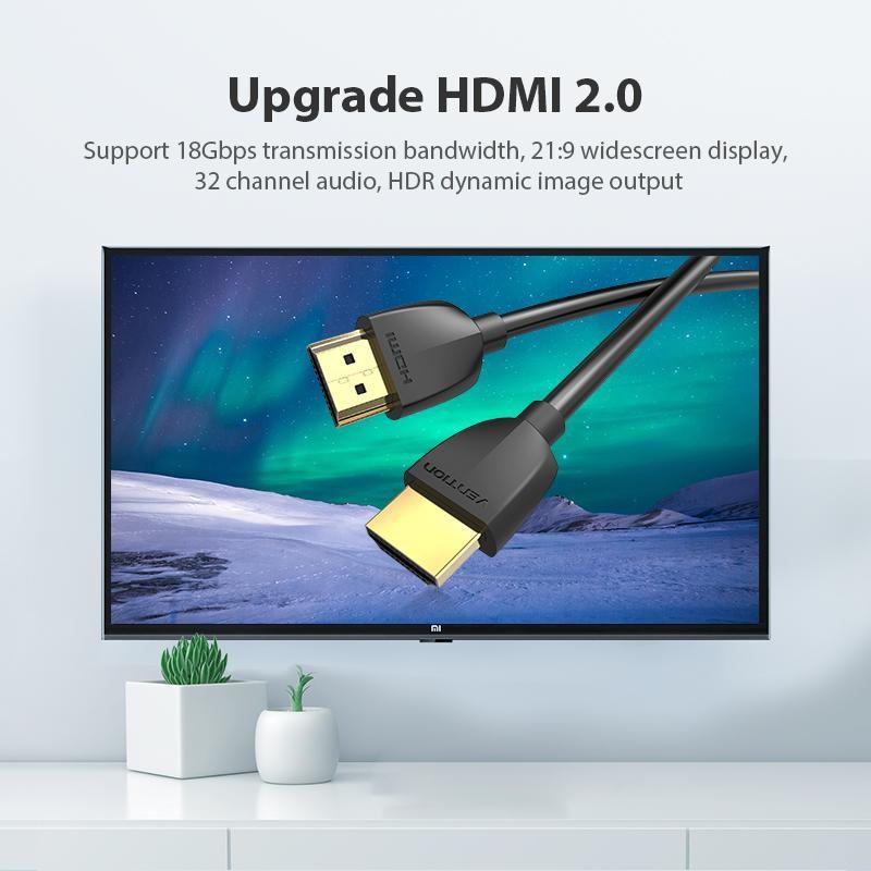 Cáp HDMI 1m to HDMI 2.0 HDR 4G 60Hz cho HDTV PS4 Máy chiếu