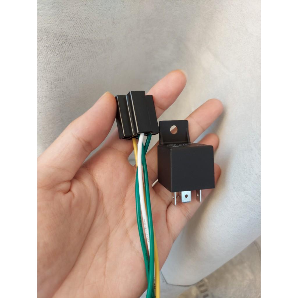 Rơ le 12V chống trộm định vị GPS 4 chân, 5 chân thường Đóng (relay thường đóng)
