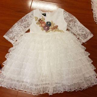 Combo váy ren tầng trắng