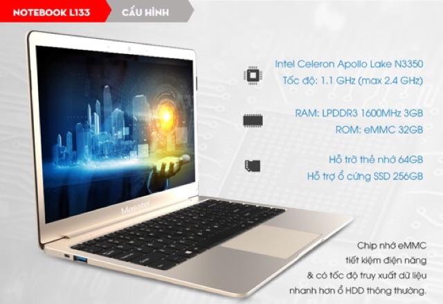 Laptop Masstel đã lên SSD 120G FullBox