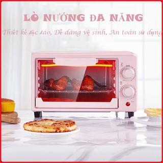 Lò nướng điện mini Mizae hồng chính hãng - Lò vi sóng dung tích 12 lít Nướng bánh, Nướng bánh, Pizza,... VTM thumbnail