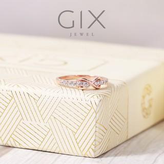 Nhẫn bạc đính đá nữ vô cực tiny mạ rose gold Gix Jewel N08VH thumbnail