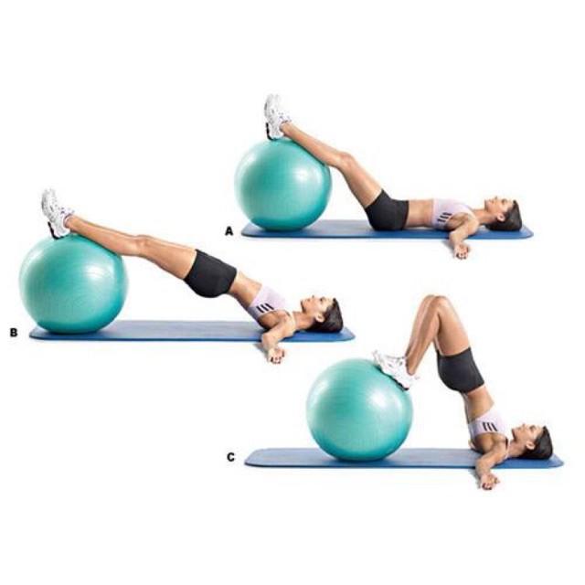 Bóng tập thể dục Yoga Ball Lock&lock HLW805BLU 65cm màu xanh dương