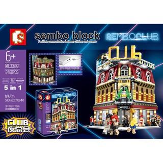 Lego Sembo SD6991 QUÁN BAR ĂN CHƠI VUI VẺ (CÓ ĐÈN)