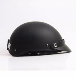 Mũ Bảo Hiểm Nửa Đầu Đen Trơn (Mũ Kèm Kính 80k)