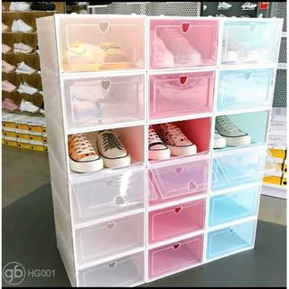 Combo 10 Hộp Đựng Giày Nhựa Mica Đẹp - Tiện Lợi Loại 1 Siêu Cứng