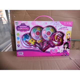 Bộ đồ chơi trang điểm hình kẹo mút nhiều màu cho bé