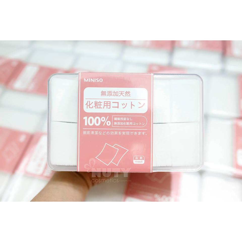 Hộp bông tẩy trang Miniso 1000 miếng Nhật Bản