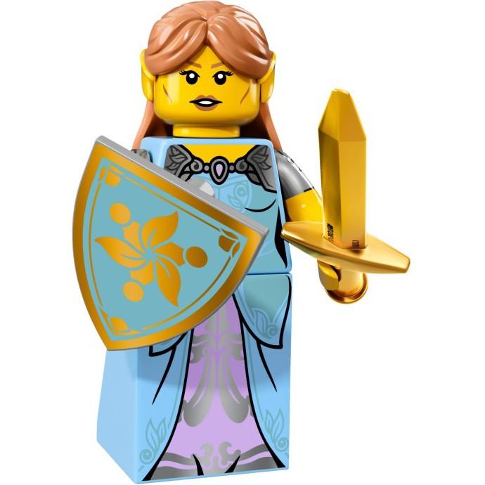 LEGO Minifigures Nữ Chiến Binh Elf 71018 Series 17 - Nhân Vật LEGO Chính Hãng Đan Mạch