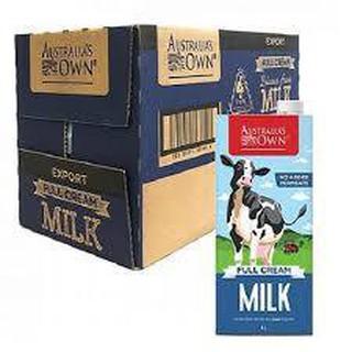 1 Thùng = 12 HỘP Sữa tươi nguyên kem Úc – Sữa tươi tiệt trùng nguyên kem – Australia Own's f